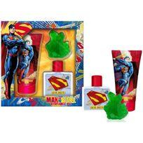 Superman - Coffret Cadeau - Eau de Toilette 50ml - Gel Douche 150ml et Savon