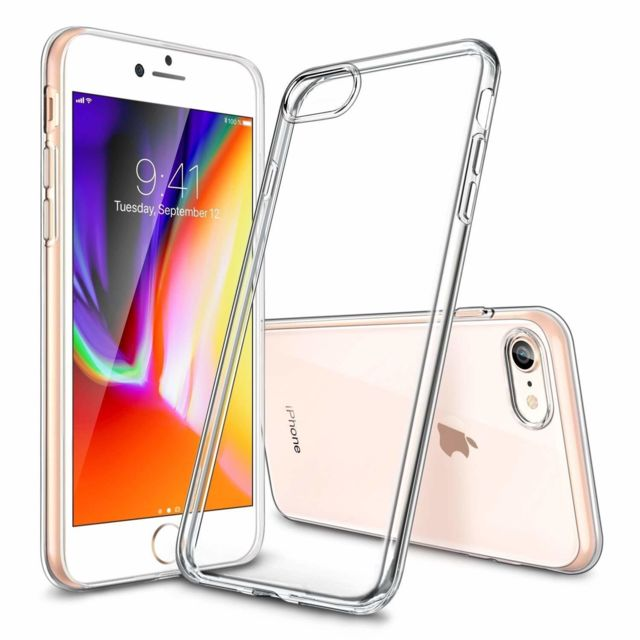 Coque iPhone 8 et iPhone 7 silicone anti