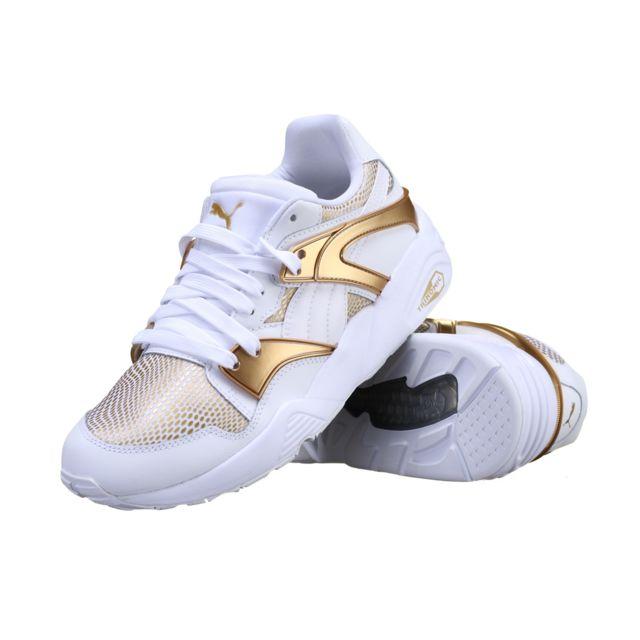 Puma Basket Blaze Gold Wn's 362022 02 Blanc pas cher