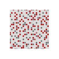 Declikdeco - Papier Peint Checker Rouge