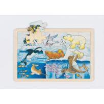 Goki - Puzzle BÉBÉS Et Enfants - Puzzle En Bois Les Animaux Polaires, 24 PiÈCES