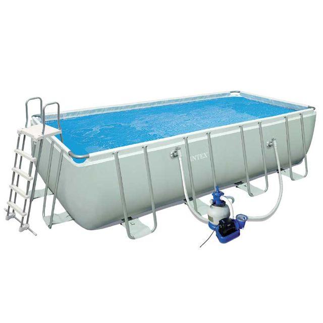 Intex piscine tubulaire ultra silver 457x274x122 pas cher achat vente robot hydraulique - Piscine tubulaire intex pas cher ...
