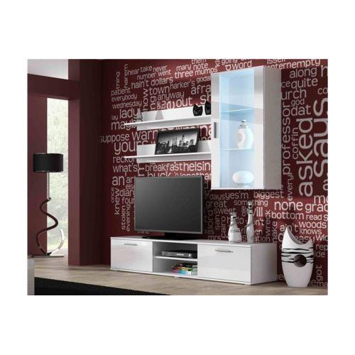 Soldes Chloe Design - Ensemble meuble Tv design Sano 5 - Blanc - pas ...