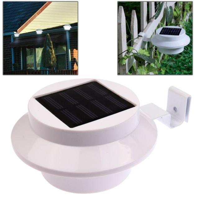 Wewoo led avec panneau solaire blanc lampe de jardin - Lampe solaire jardin leroy merlin ...