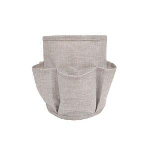 mobili rebecca rangement organisateur 7 poches gris tissu brosse cosmetique salle de bain. Black Bedroom Furniture Sets. Home Design Ideas