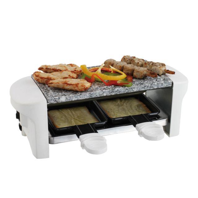 DOMOCLIP Appareil à raclette blanc 2 personnes DOC156W