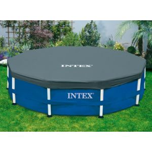 Intex b che de protection piscine tubulaire ronde 3 66 for Piscine hors sol intex pas cher