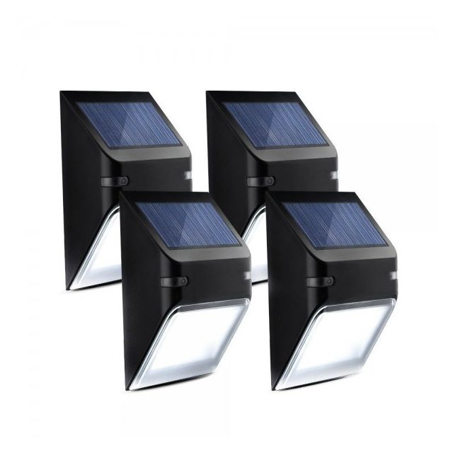 alpexe 4 pack eclairage solaire imperm able panneau. Black Bedroom Furniture Sets. Home Design Ideas