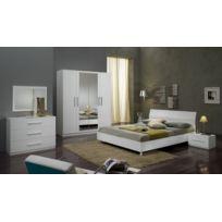 chambre coucher blanc laque - Achat chambre coucher blanc laque ...