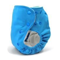 BabyKicks - 794504456523 Couche Taille Unique Avec Solide Fermeture À Boutons Pression Bleu De 3 À 18 Kg Environ