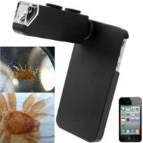 Wewoo - Pour iPhone 4 et 4S noir Magixizer de Microscope de téléphone portable Digital de 100X + couverture arrière