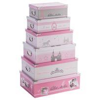 Atmosphera - 6 Boîte de rangement - Princesse