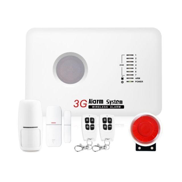 wewoo syst me d 39 alarme blanc 6 en 1 kit 433mhz sans fil gsm et wcdma intelligent anti. Black Bedroom Furniture Sets. Home Design Ideas