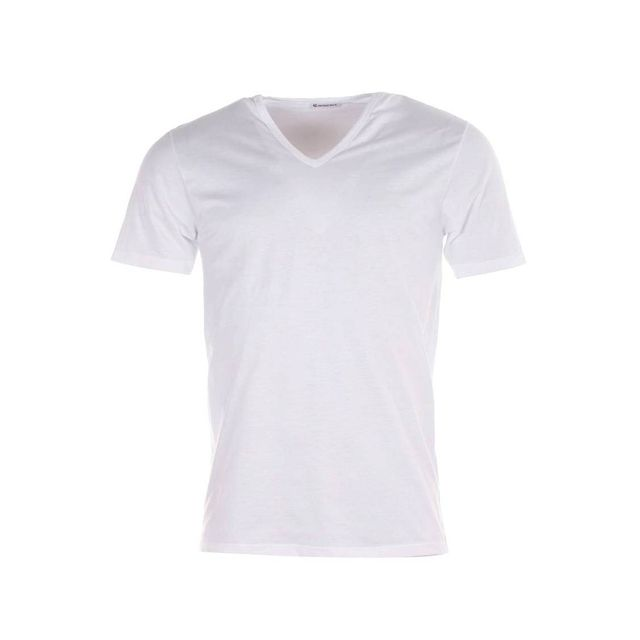 Eminence - Tee-shirt Luxor col V blanc, en pur coton d'Egypte hypoallergénique