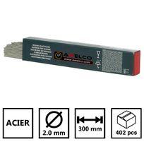 Awelco - Electrodes acier rutiles Ø2.0 mm - baguette de 300 mm de long - boite de 402 pièces