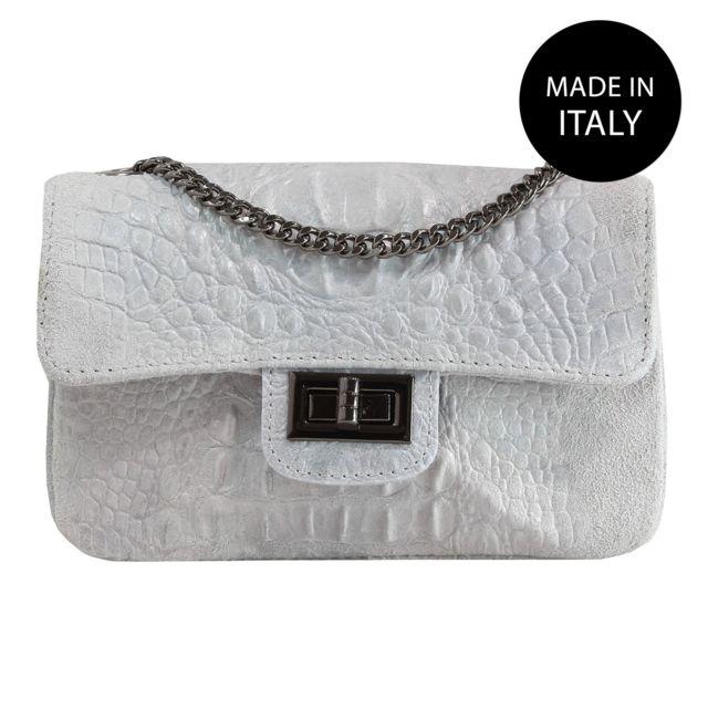 e1d28e38ec02c Chicca Borse - Sac épaule Femme gris - pas cher Achat   Vente Sacs à ...