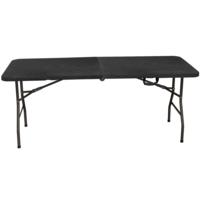 MARQUE GENERIQUE - Table pliante multi-usages 1.80 m - Noir - 962162