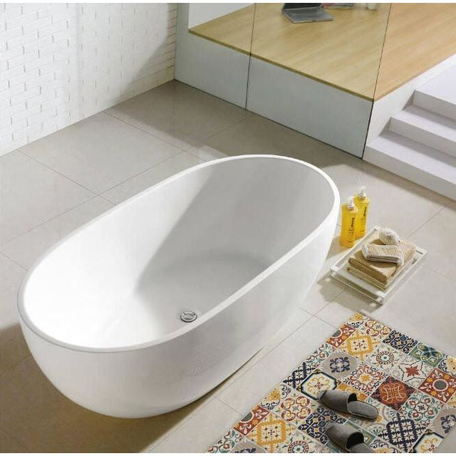 Mon Beau Tapis - Tapis motifs carreaux de ciment jaune 60x90cm Toodoo
