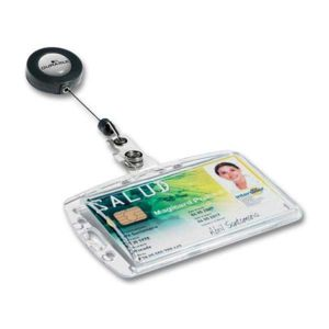 Durable Enrouleur Porte Badge Pas Cher Achat Vente Badges - Porte badge pas cher