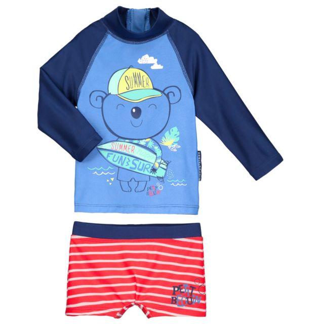 meilleur service 7a62a 0c09e Petit Beguin - Maillot de bain Anti-uv 2 pièces t-shirt ...