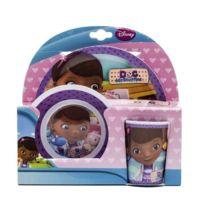 Toy Joy - Joy Toy 748990 Disney Doc Mcstuffins - 2 Assiettes En MÉLAMINE Et Un Gobelet 27 X 7 X 28 Cm, 3 PiÈCES