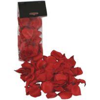 Lrdp - Petales de roses en tissus rouge
