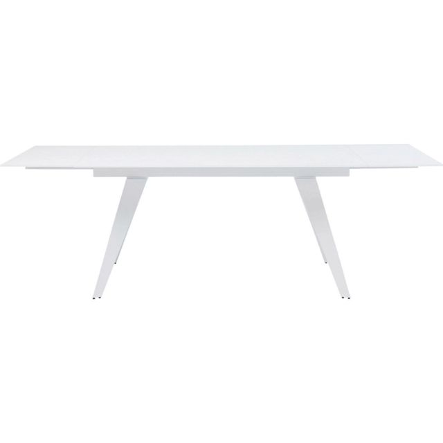 Karedesign Table à rallonges Amsterdam blanche 240x90cm Kare Design