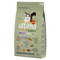 Ultima - Croquettes au Saumon pour Chat Stérilisé - Nature - 1,25Kg