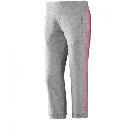 Adidas originals - Pantalon 3 4 Ess 3S gris Entrainement Femme Adidas  Multicouleur - XXS - pas cher Achat   Vente Pantalon homme - RueDuCommerce 1f72a0c87d8