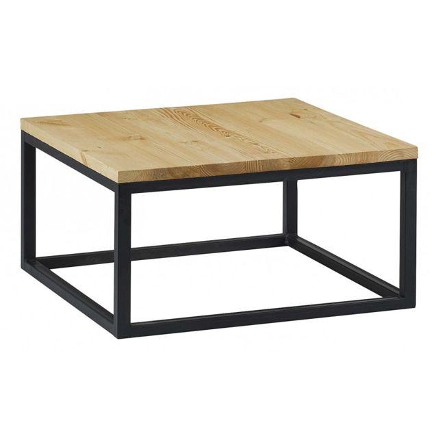 Table Basse Bois Noir.Table Basse Metal Et Bois City