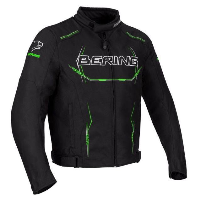 bering blouson moto forcio textile homme toutes saisons tanche noir vert btb609 pas cher. Black Bedroom Furniture Sets. Home Design Ideas