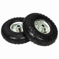 """130 kg 2 Pièces 10/"""" roue brouette pneus PU 4.10//3.50-4 260x85 charge max"""