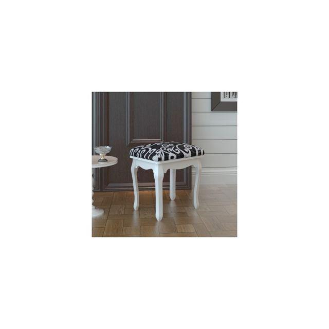 rocambolesk tabouret pouf pour coiffeuse en bois pas cher achat vente tabourets. Black Bedroom Furniture Sets. Home Design Ideas