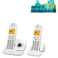 ALCATEL - Téléphone fixe Sans fil Avec répondeur - F330 Voice - Duo Gris