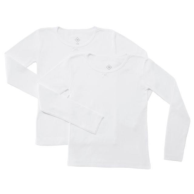 1672d1fa599b9 TEX - Lot de 2 T-shirts coton BIO manches longues fille - pas cher ...