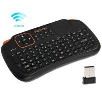 Wewoo - Pour Pc, Pad, Android / noir Google Tv Box, Xbox360, Ps3, Htpc / Iptv, Veille automatique de et mode de réveil S1 Air Mouse 83 touches Qwerty 2.4GHz Mini Rechargeable & 160 Clavier sans fil avec pavé tactile