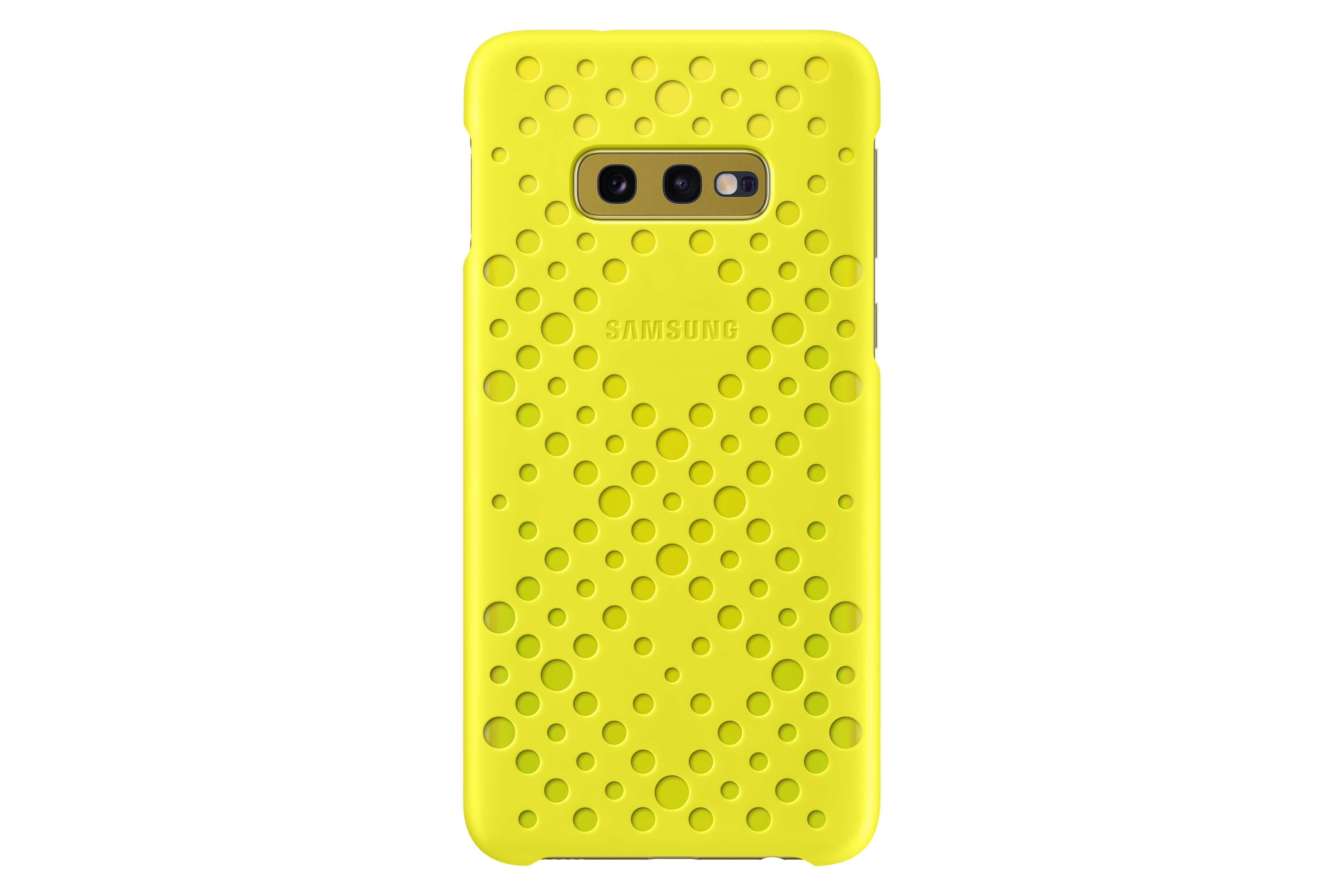 Samsung - Coques Perforées Galaxy S10e - Blanc & Jaune - Coque ...