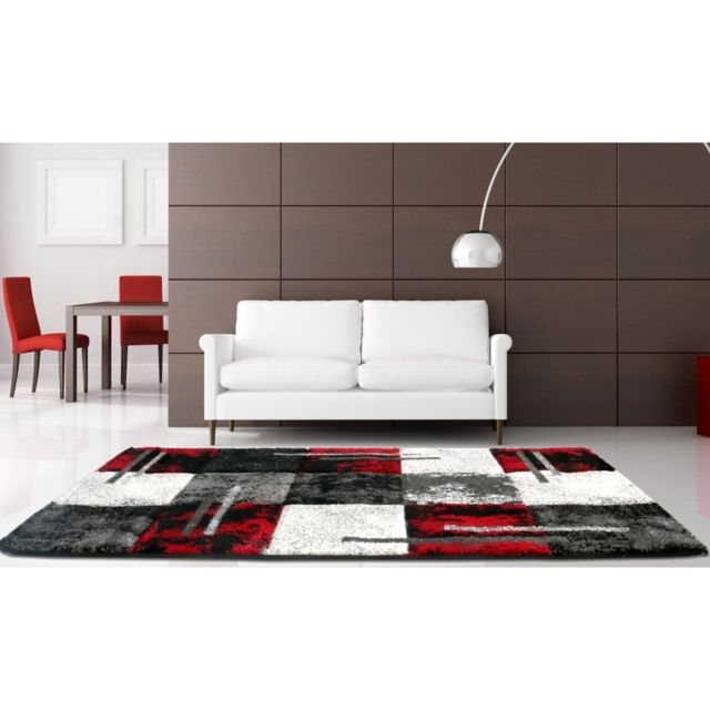 tapis moderne rouge. Black Bedroom Furniture Sets. Home Design Ideas