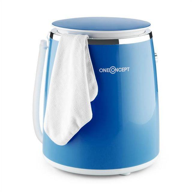 ONECONCEPT Ecowash-Pico Mini machine à laver avec essorage 3,5 kg 380 W - bleu