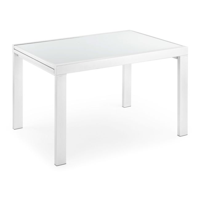 Kavehome Table extensible Norfolk 120 240, x90 cm, blanc