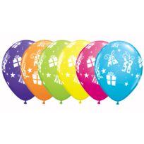 Qualatex - Ballons Paquets Cadeaux Imprimés x25