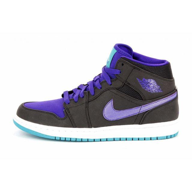 bbe429a4c7a Nike - Basket Air Jordan 1 Mid - Ref. 554724-015 - pas cher Achat   Vente  Baskets homme - RueDuCommerce