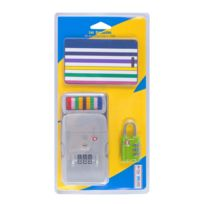 Les Bagagistes - Kit de voyage 3 en 1 - Sangle de bagage + étiquette + cadenas - 6_22028 - Accessoires - bagagerie