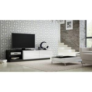 chloe design meuble tv design macig 2 blanc noir pas cher achat vente meubles tv hi fi. Black Bedroom Furniture Sets. Home Design Ideas
