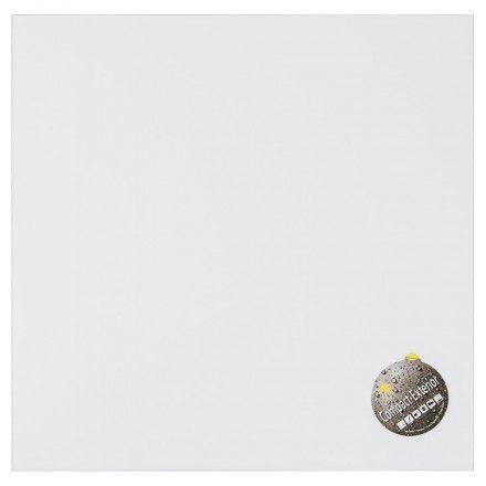 TECHNEB Plateau de table carré VERA en polymère 60cmX60 cmX3cm, blanc