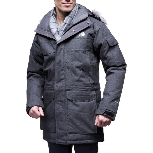the north face blouson mcmurdo parka anthracite gris. Black Bedroom Furniture Sets. Home Design Ideas