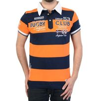 RG512 - Polo Geographical Norway Kimporte Ss Men 100 Orange/Navy
