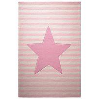 Belly Button - Tapis Etoile Rayures Rose par pour chambre enfant fille - Couleur - Rose, Taille - 60 x 100 cm