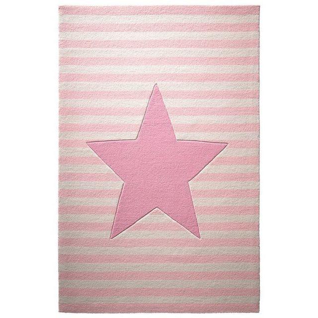Belly button tapis etoile rayures rose par pour chambre enfant fille couleur rose taille - Etoile lumineuse pour chambre ...