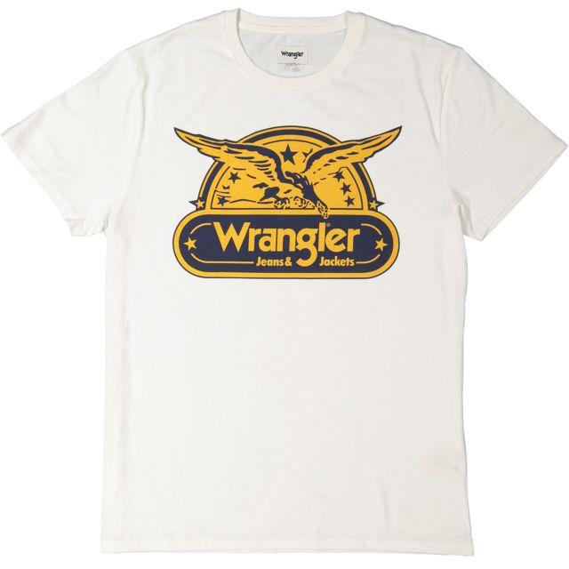 675d769c5ed WRANGLER - T-shirt Eagle - Blanc - pas cher Achat   Vente Tee shirt ...